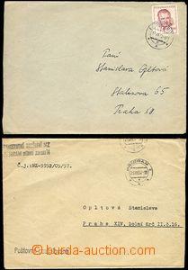 62087 - 1952-57 Leopoldov, Příbram, sestava 2ks dopisů na jednu a