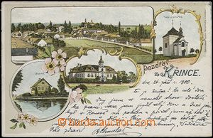 62092 - 1900 Křinec - lithography, apothecary's; long address, Us, s