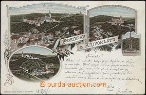 62094 - 1896 Křivoklát - lithography; long address, Us, bumped cor