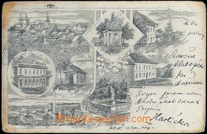 62098 - 1903 Kouřim - picture collage, sugar-factory, Sokol house,