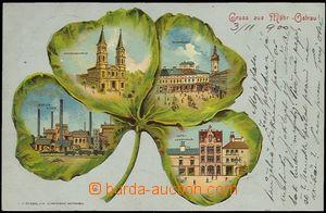 62106 - 1900 Moravská Ostrava - litografická koláž čtyřlístek, hutě,