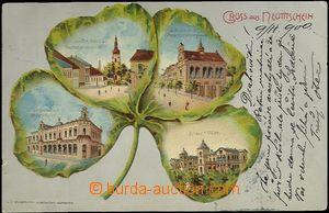 62107 - 1900 Nový Jičín (Neutitschein) - litografická koláž čtyřlíst
