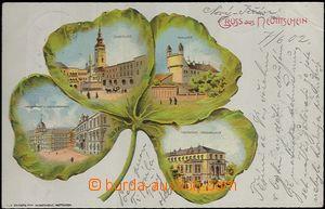 62108 - 1902 Nový Jičín (Neutitschein) - litografická koláž čtyřlíst