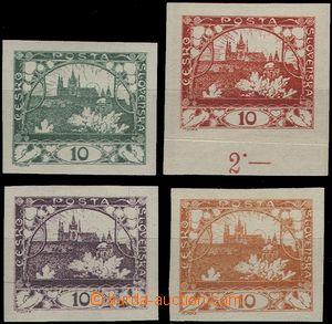 62111 -  ZT hodnoty 10h, 4ks neotypie, tmavě zelená, sytě červen