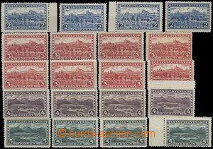 62127 - 1926 Pof.225-228 Praha-Tatry, kompletní série podle průsv