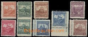 62151 - 1926 Pof.216-224 Hrady, krajiny, města, kompl. série bez p