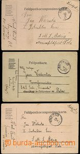 62169 - 1917 comp. 3 pcs of FP cards sent to ships, from that 2 pcs
