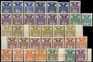 62170 -  Pof.143-150, sestava 35ks známek s odlišením v barvě, d