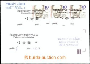 62177 - 1991 letter from of the 2nd day transport official courier s