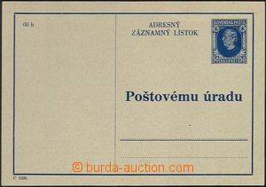 62185 - 1939 CAZ1, Hlinka 50h, light fold in paper, otherwise clear,