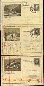 62189 - 1940-41 CDV4/4, 19, 24, 3 pcs of, thin price,  all Us to Boh