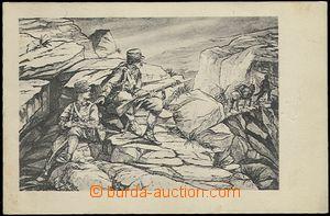 62206 - 1915? četnická hlídka v horách, vydání pro podpůrný fond čet