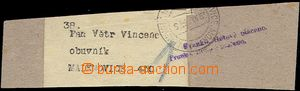 62230 - 1918 address strip with nouzovovým newspaper postmark Pof.N