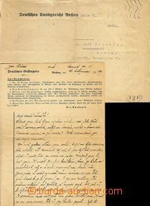 62256 - 1939 BRNO, Zeile, letter from prisoner sent by právního ag