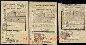 62258 - 1943-44 KT BUCHENWALD, 3x podací lístek na zásilku do KL,