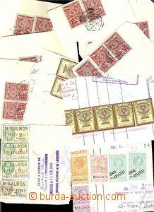 62263 - 1929-36 sestava 23ks  útržků ze šeků s kolky rakouskými, rum