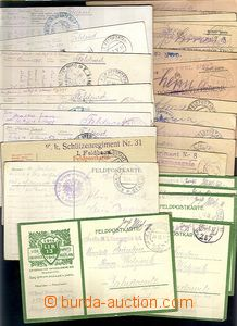 62269 - 1914-18 AUSTRIA, comp. of more than  90 pcs of mailing FP, F