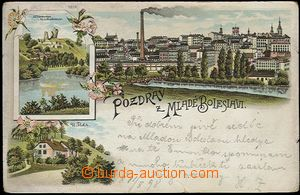 62314 - 1898 Mladá Boleslav - litografická koláž, samota U Fleků; DA