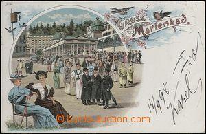 62315 - 1898 Mariánské Lázně (Marienbad) - litografická koláž, troji