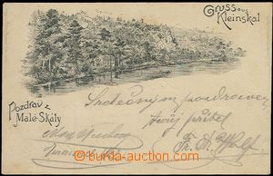 62316 - 1898 MALÁ SKÁLA (Kleinskal) - forerunner Ppc, long address,