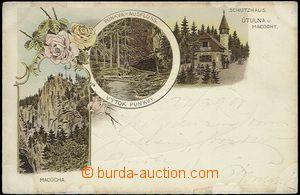 62318 - 1899 Macocha - litografická koláž, propast, Punkva; DA, proš