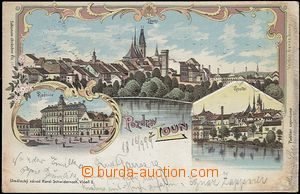 62320 - 1899 Louny - lithography; long address, Us, light oxidation