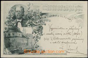 62321 - 1899 Litomyšl - Bedřich Smetana, rodný dům, podobizna, notov