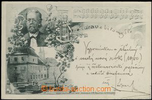 62321 - 1899 Litomyšl - Bedřich Smetana, rodný dům, podobizna, n