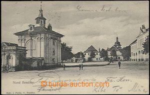 62327 - 1905 BENÁTKY NAD JIZEROU - postavy na náměstí; DA, prošlá, v