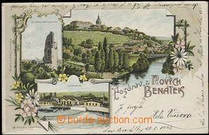 62328 - 1901 BENÁTKY NAD JIZEROU - litografická koláž, carborundum;