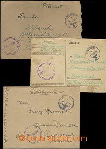 62340 - 1942-44 5ks celistvostí odeslaných O.T. Manny do ČaM, FP