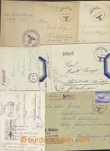 62342 - 1940-44 6x zásilka FP, 1x Luft-FP s frankaturou zn. Mi.1A,