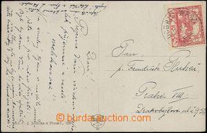 62349 - 1919 pohlednice vyfr. zn. Hradčany 10h s předběžným raz