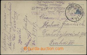 62350 - 1919 postcard to Prague sent by Czechoslovak FP No.75/ 24.I.