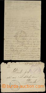 62361 - 1918? Czechoslovak. army in Russia - front side of letter wi