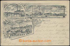 62389 - 1896 Pečky - 3okénková koláž, rafinerie, továrna; DA,