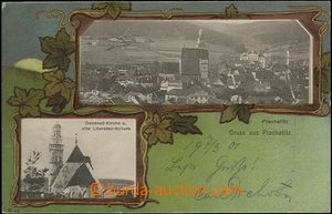 62407 - 1901 Prachatice (Prachatitz) - 2-views collage; long address
