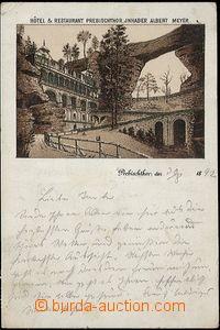 62410 - 1892 ČESKO-SASKÉ ŠVÝCARSKO - Pravčická brána (Prebishtor) -