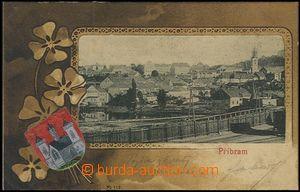 62416 - 1900 Příbram - 1okénková koláž, erb, čtyřlístek; DA