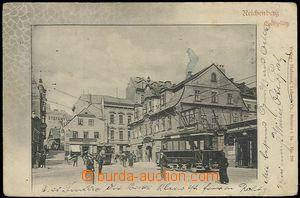 62424 - 1904 Liberec (Reichenberg) - tramvaj v ulici; DA, prošlá, od