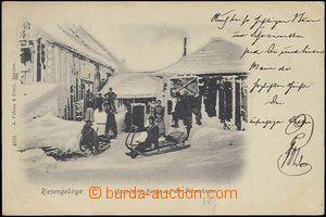 62429 - 1902 Krkonoše - Česká bouda na Sněžce, zimní pohled, l