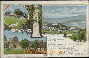 62430 - 1900 Říčky v Orlických horách (Ritschka) - 4okénková litogra
