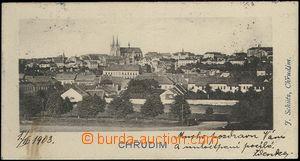 62438 - 1903 Chrudim - maloformátová pohlednice 9x4,8cm; prošlá, výb