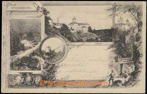 62448 - 1902 Rychmburk - 4okénková koláž, hrad, mlýn; DA, prošlá, vý