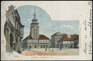 62452 - 1901 Žatec (Saaz) - town-hall; long address, Us, light bump