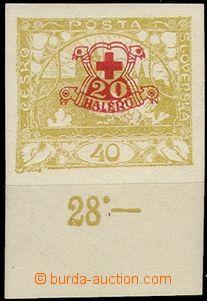 62463 -  Pof.170Nc, nevydaná známka s přítiskem, nezoubkovaná,