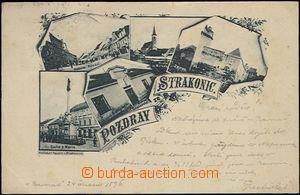 62470 - 1896 Strakonice - 5okénková koláž; DA, prošlá, lehké skvrny