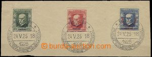 62473 - 1925 Pof.180-182  Kongres, kompletní série na výstřižku