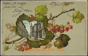 62488 - 1904 Uherské Hradiště - lithography rybíz; long address, Us,