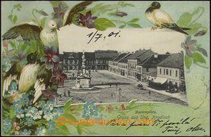 62489 - 1901 Uherské Hradiště - litografická koláž s ptáky; DA, proš